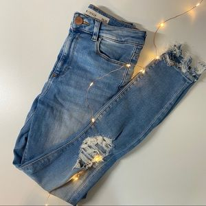 ASOS Ridley skinny jeans distressed 26x30
